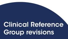 Clinical Reference Group revisions
