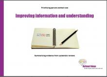 Improving information and understanding
