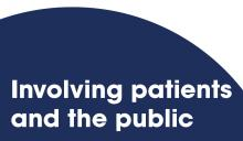 Involving patients and the public
