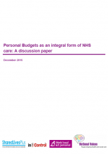 Personal budgets publication