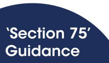 'Section 75' guidance