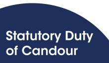 Statutory Duty of Candour