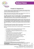 Principles for Integrated Care front page