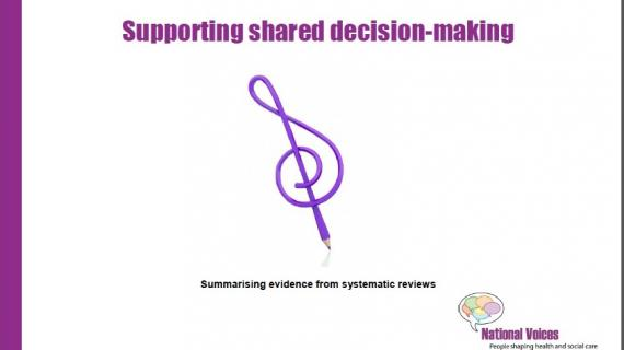 Supporting shared decision making